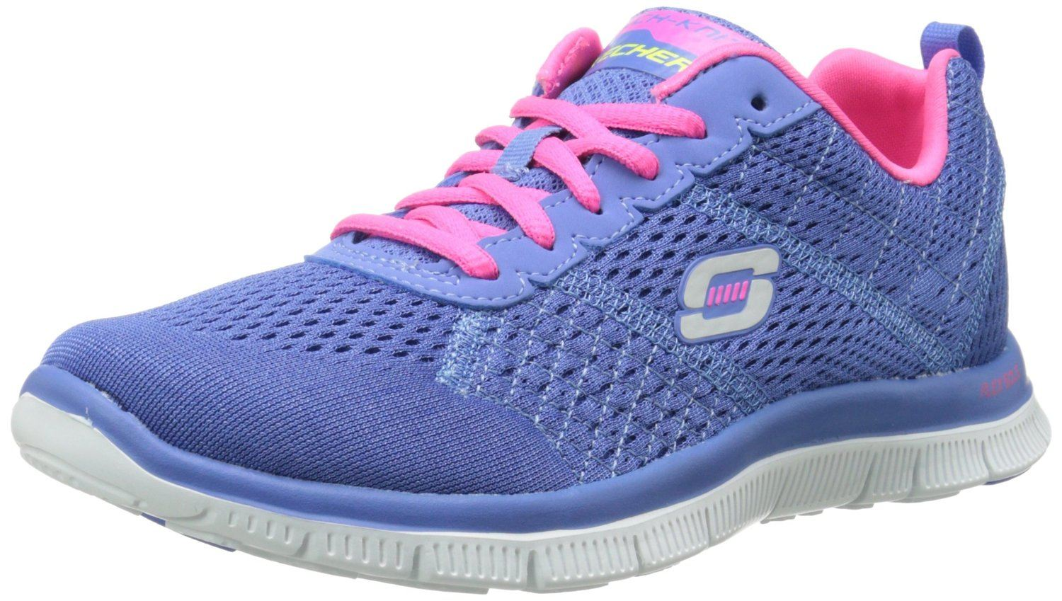 skechers flex appeal blau rosa wei damen sneckers schuhe. Black Bedroom Furniture Sets. Home Design Ideas