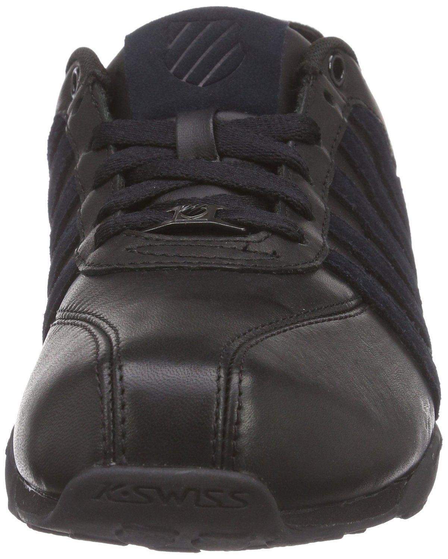 k swiss arvee 1 5 schwarz charcoal herren leder sneakers schuhe ebay. Black Bedroom Furniture Sets. Home Design Ideas