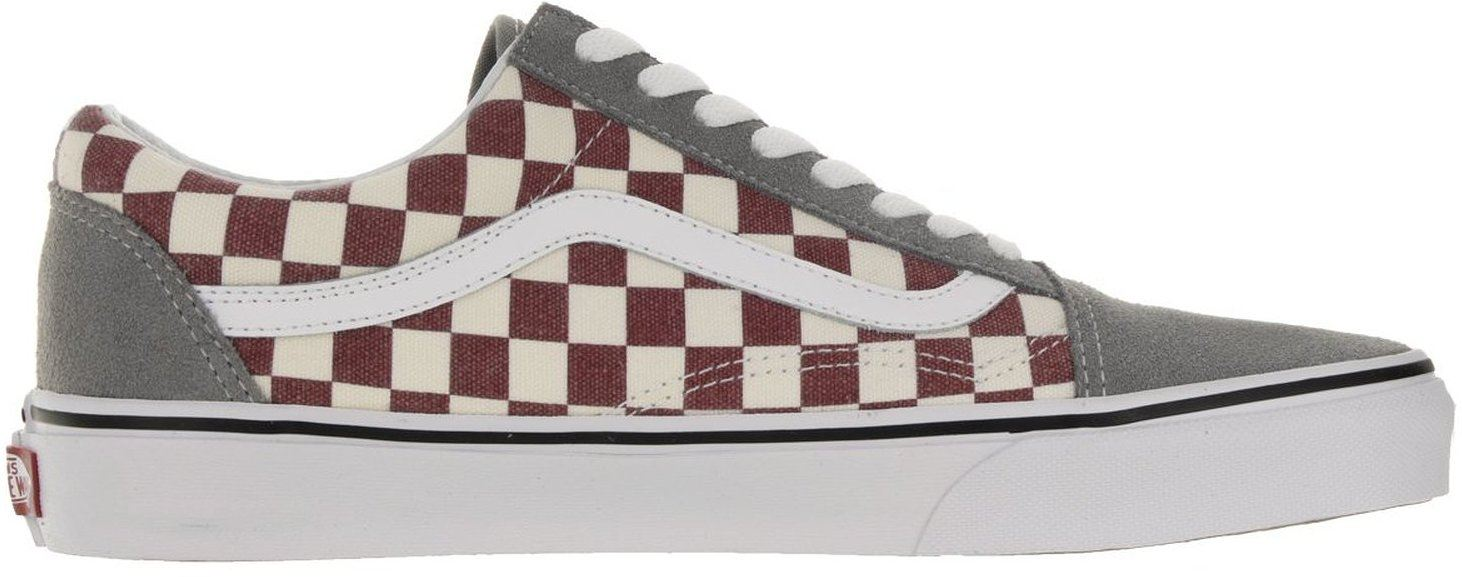 Vans-Old-Skool-Grey-Red-Check-Suede-Unisex-