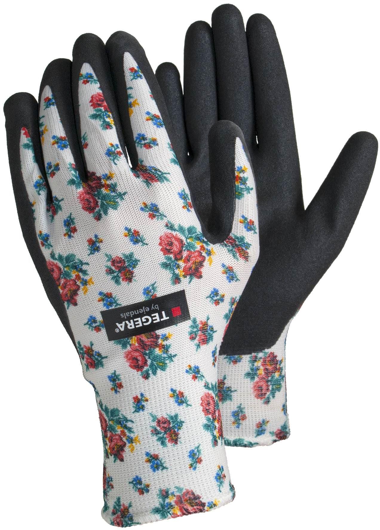 Tegera ladies womens gardening gloves nitrile letex free for Gardening gloves ladies