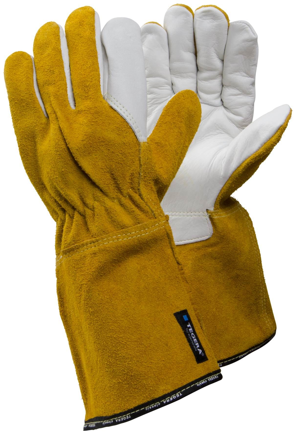 Leather work gloves ebay - Tegera Heat Resistant Leather Welding Work Gloves Gauntlets