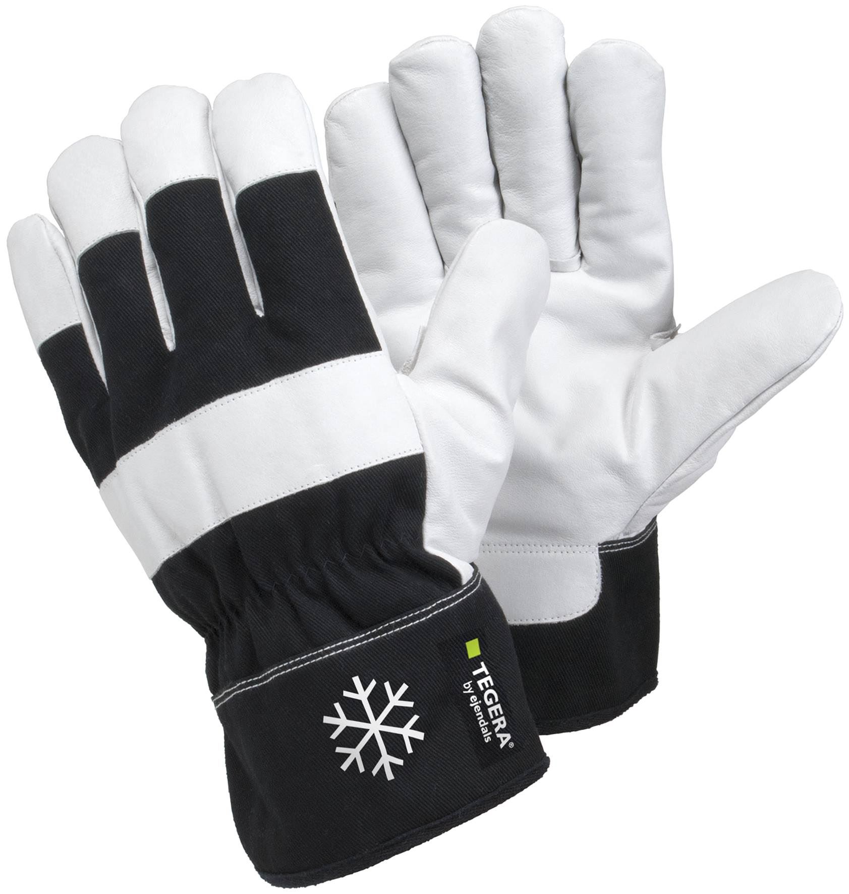 Leather work gloves ebay - Tegera 377 Black White Heavy Duty Warm Winter