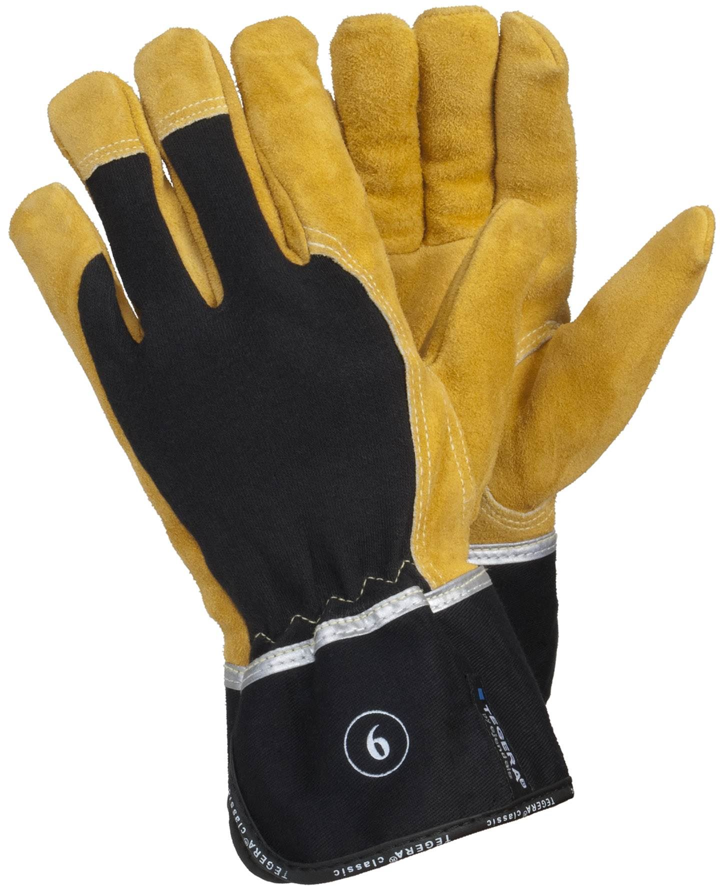 Leather work gloves ebay - Tegera Heavy Duty Kevlar Fiber Leather Work Gloves