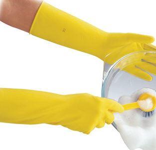 Polyco Deep Sink 40cm Extra Lang Latex Gummi Küche Reinigung Geschirr Handschuhe