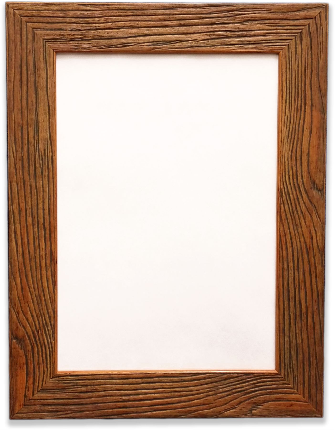 Dark Rustic Wood Grain Finish Photo Picture Frame 43mm