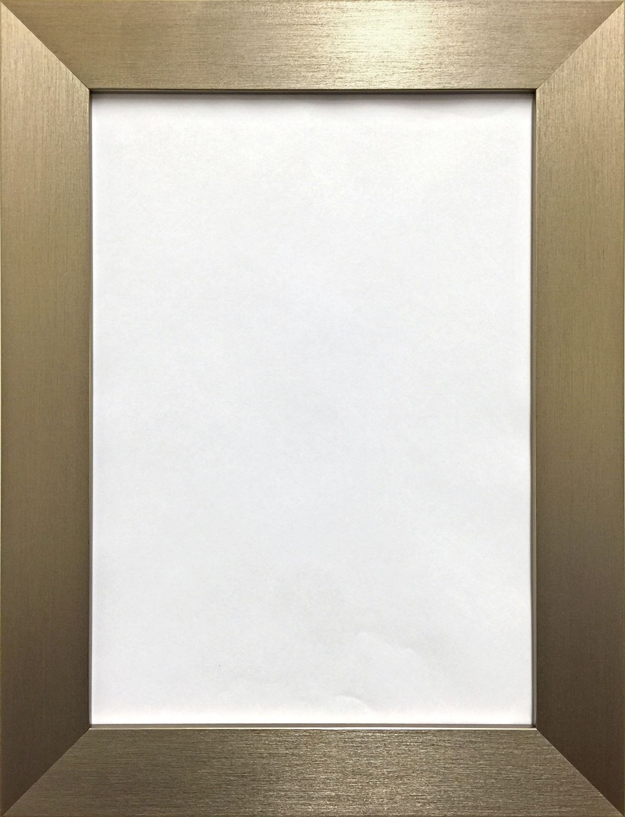 Photo picture poster frame modern flat brushed finish wide for How to make a large picture frame