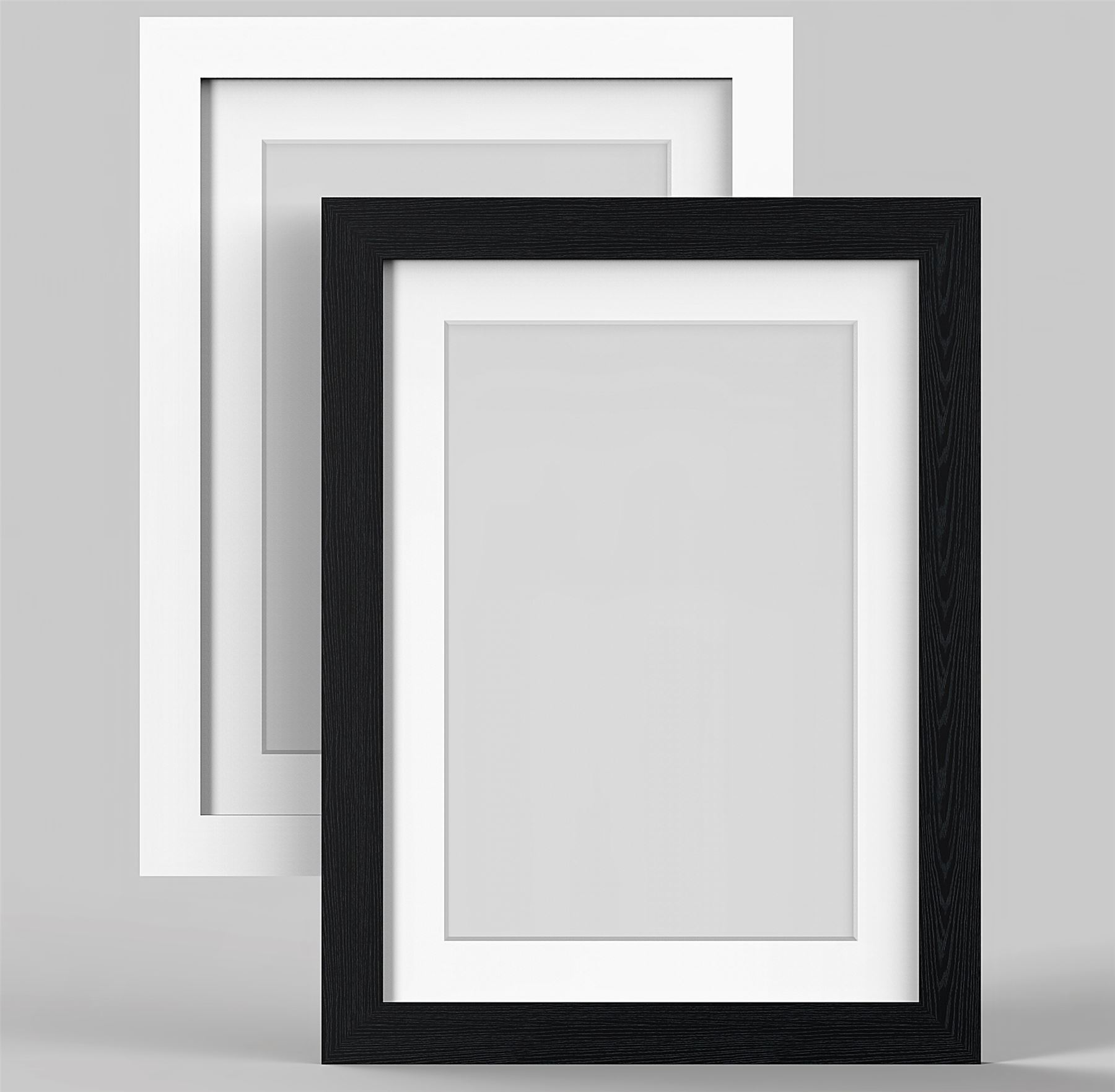 Black or White MODERN Photo Picture Frames with Black, White or ...