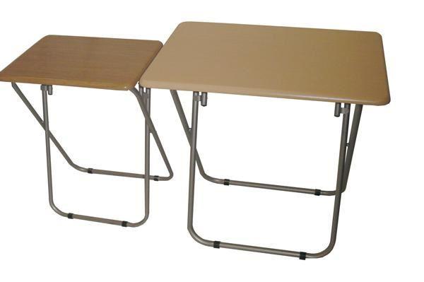 En bois haut apollo metal jambe table pliante pour carte - Table pliante pour ordinateur portable ...