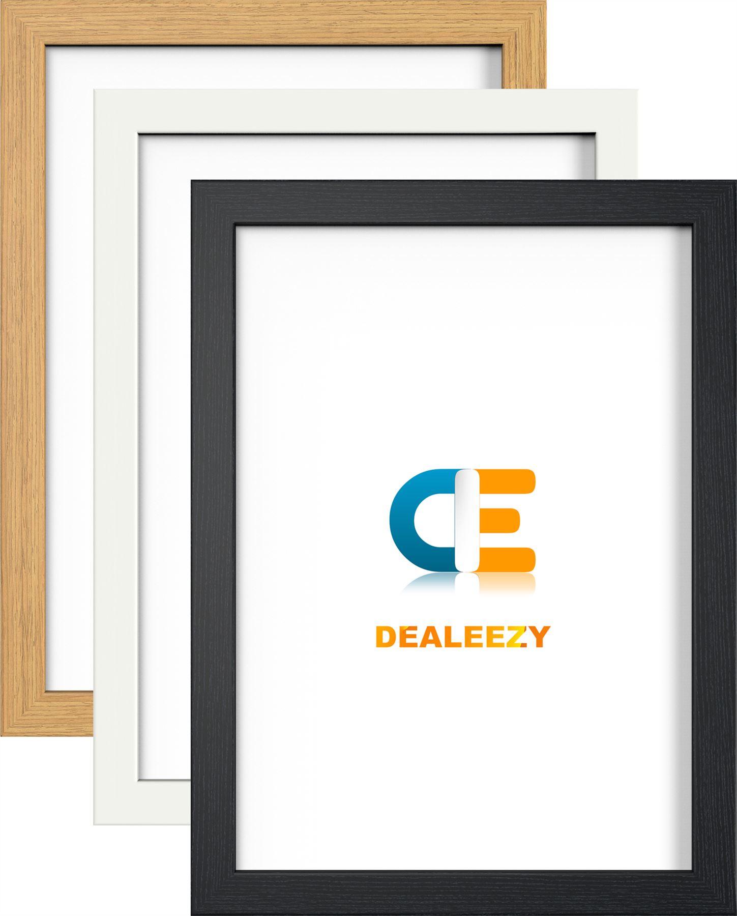 picture photo frame large maxi poster frames black white oak colour wood effect