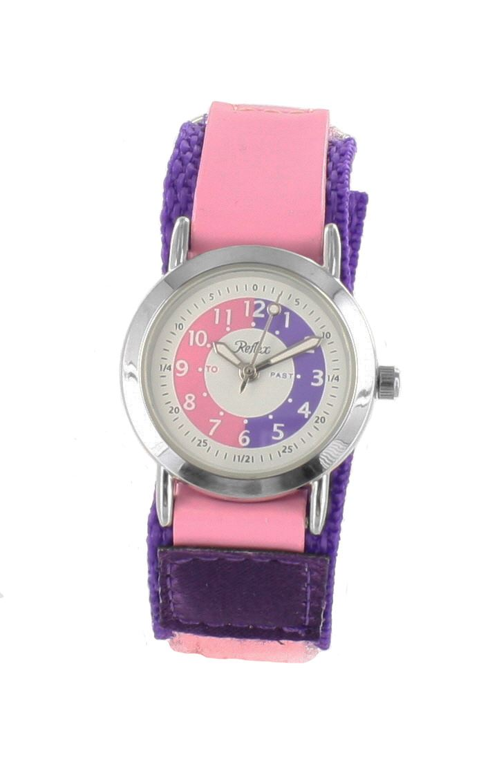 Girls-Reflex-Velcro-Fastening-or-Buckle-Strap-Time-Teacher-Watches