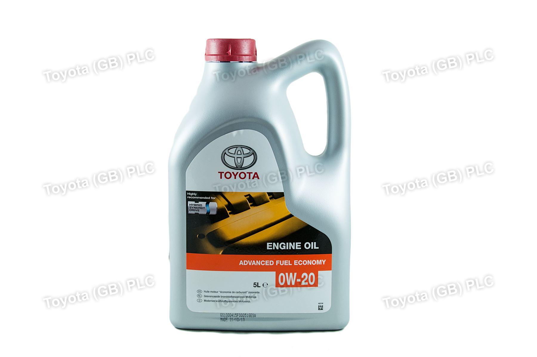 Genuine Toyota Engine Motor Oil 0w20 Afe 5 Litres Ltr