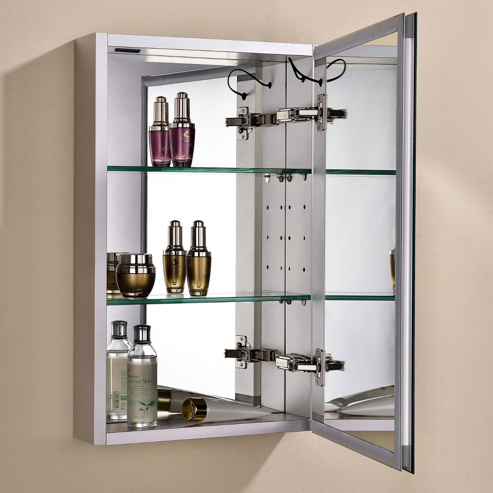 Bathroom Cabinet With Shaver Point Saturn Led Illuminated Bathroom Mirror Cabinet Infra Red Sensor