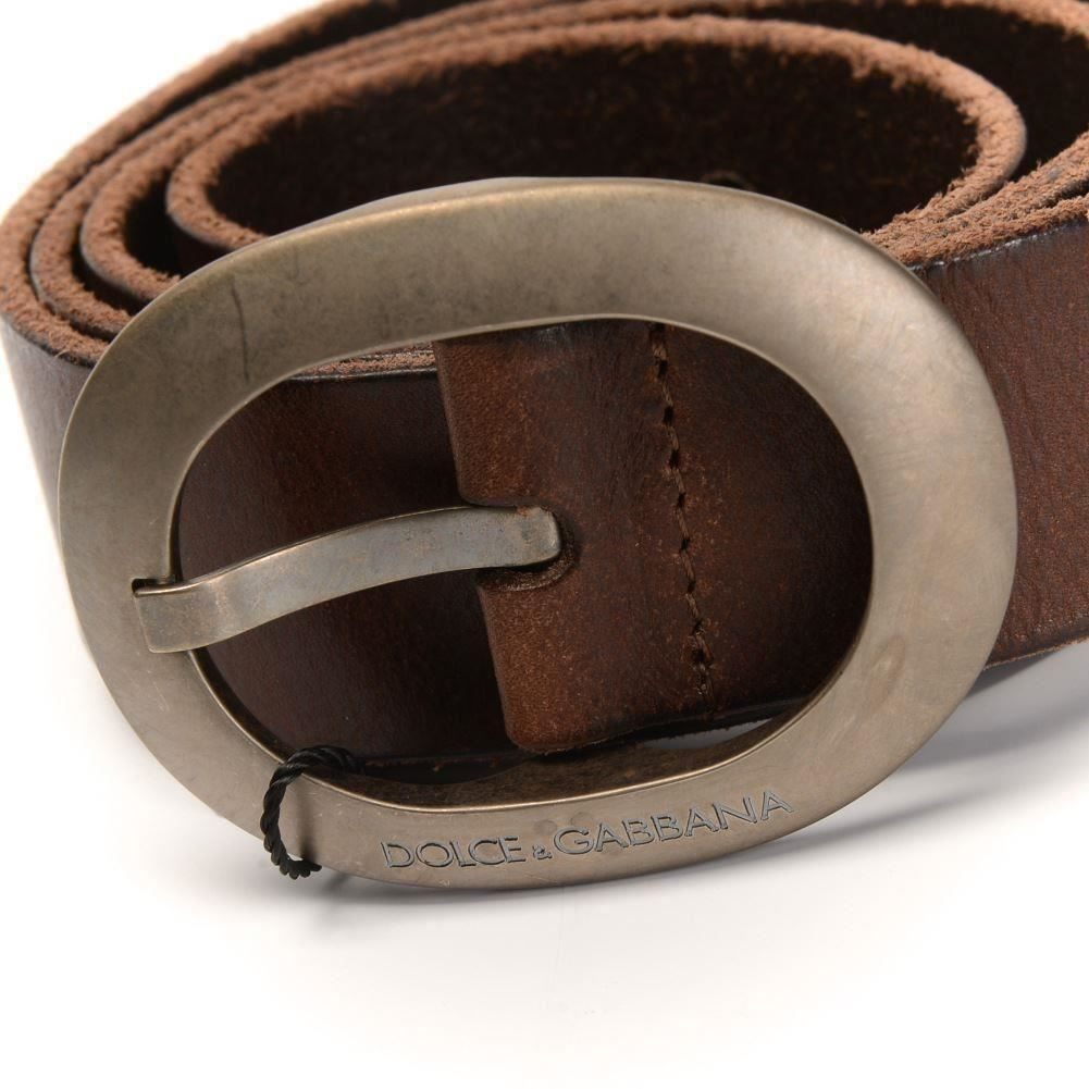 dolce gabbana belt leather with silver buckle za black