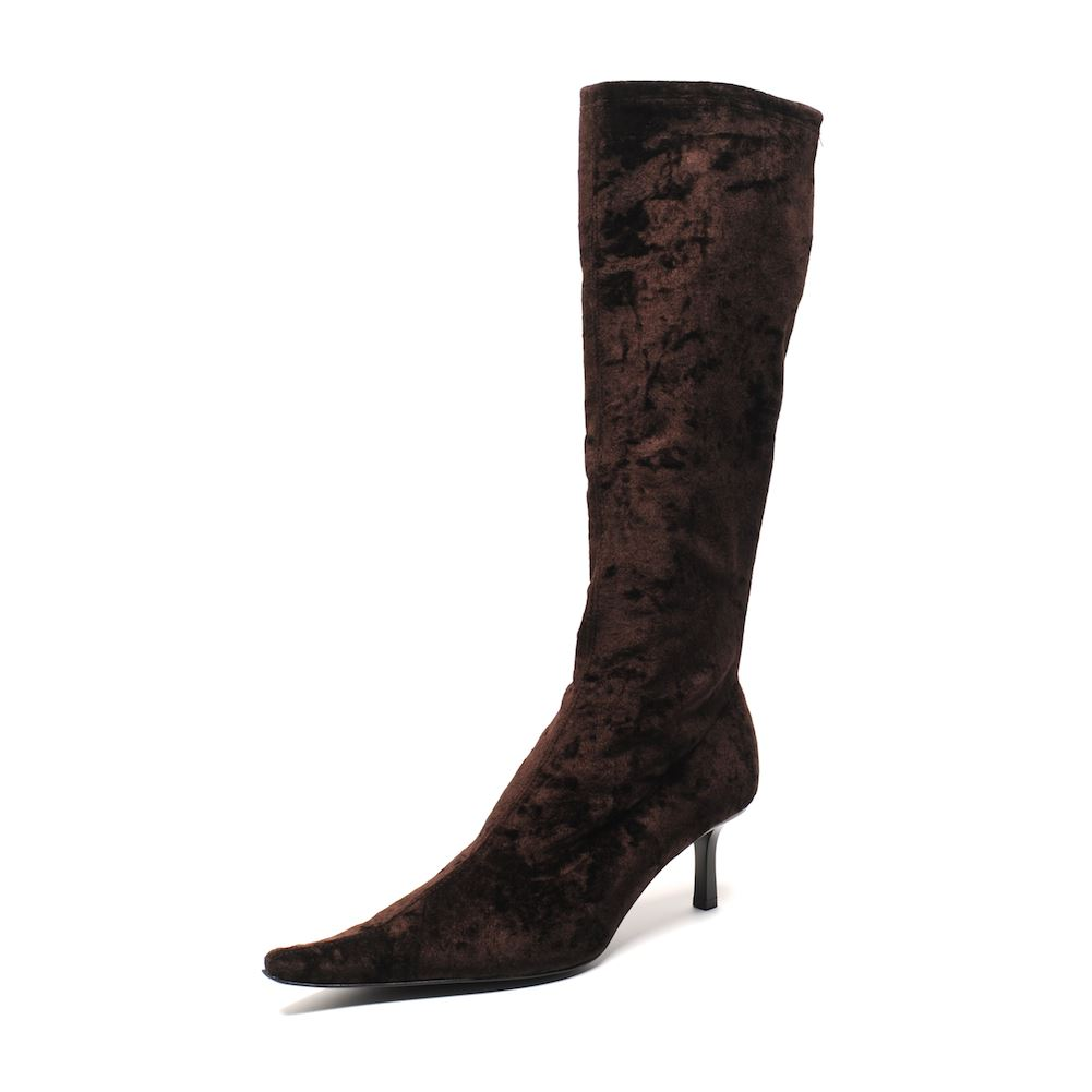 Black Kitten Heel Ankle Boot Boots Shoes Womens Fashio