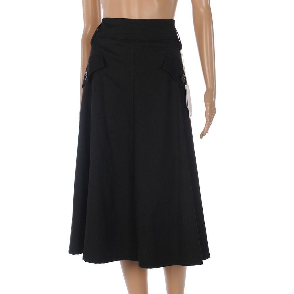 marella skirt charcoal grey a line knee length size 36