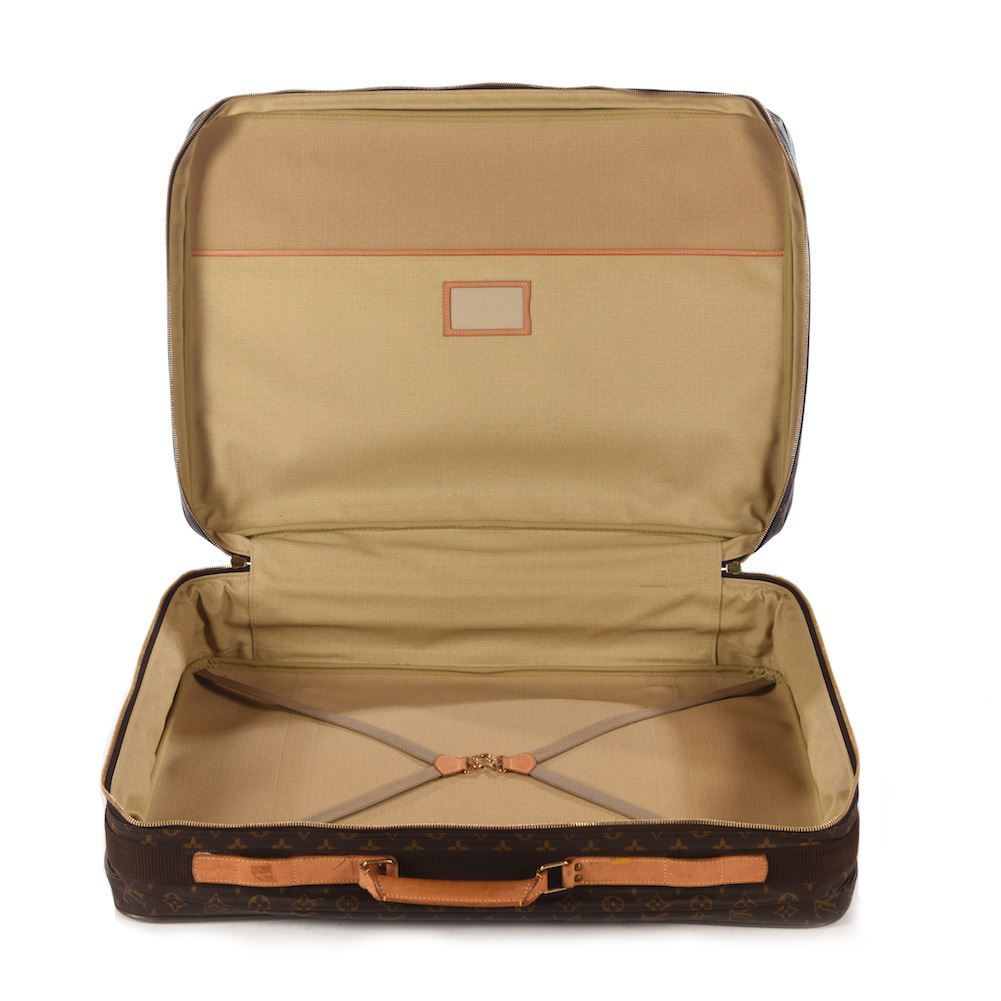 louis vuitton softsided suitcase brown monogram canvas satellite 70 raincover ebay. Black Bedroom Furniture Sets. Home Design Ideas
