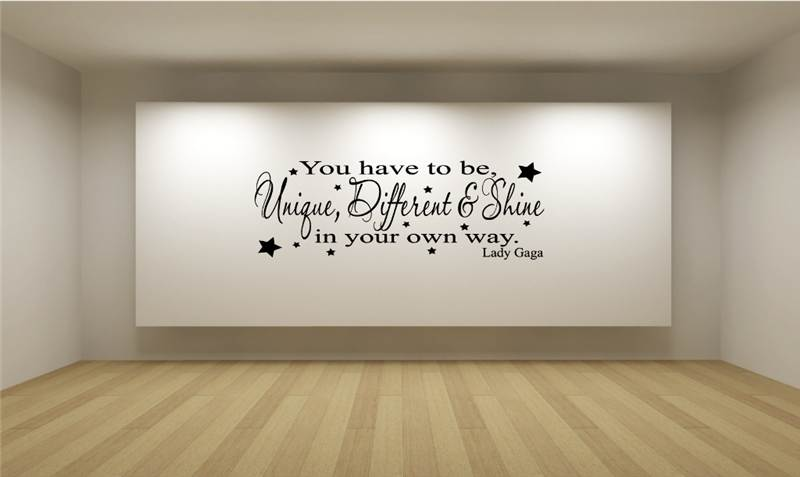 Wall Art Stickers Song Lyrics : Lady gaga different unique shine song lyrics wall art