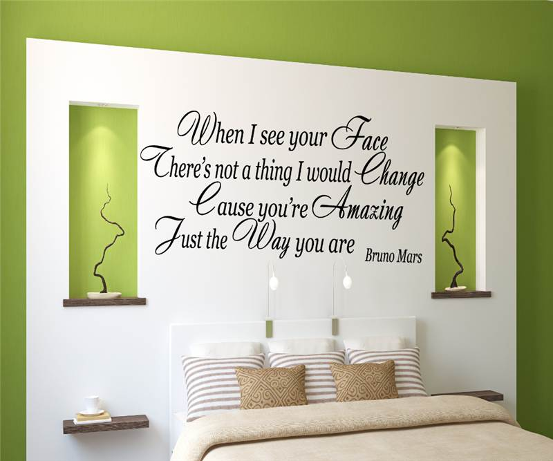 Wall Art Stickers Song Lyrics : Bruno mars amazing just the way you are song lyrics wall