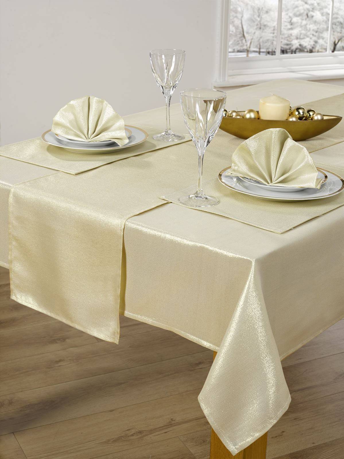 14-PIECE-CHRISTMAS-TABLE-LINEN-SET-XMAS-TABLE- & 14 PIECE CHRISTMAS TABLE LINEN SET XMAS TABLE CLOTH SEATS 6 DINNER ...