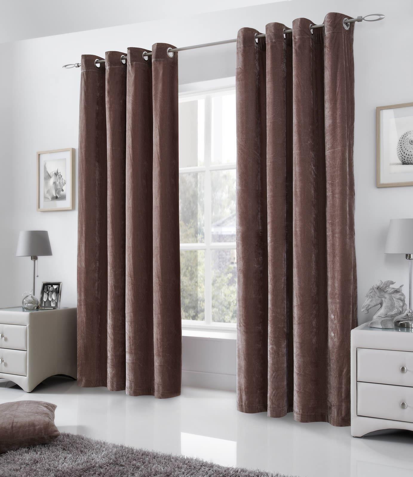black velvet curtain velvet curtains eyelet lined curtains ringtop grey black mink red cream