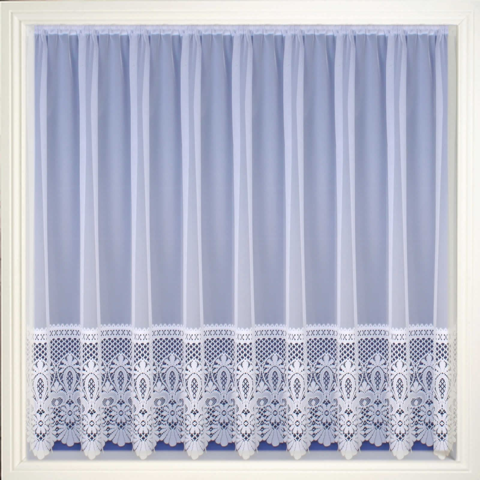 Modern White Sheers Net Curtain Luxury Lace Curtains Nets