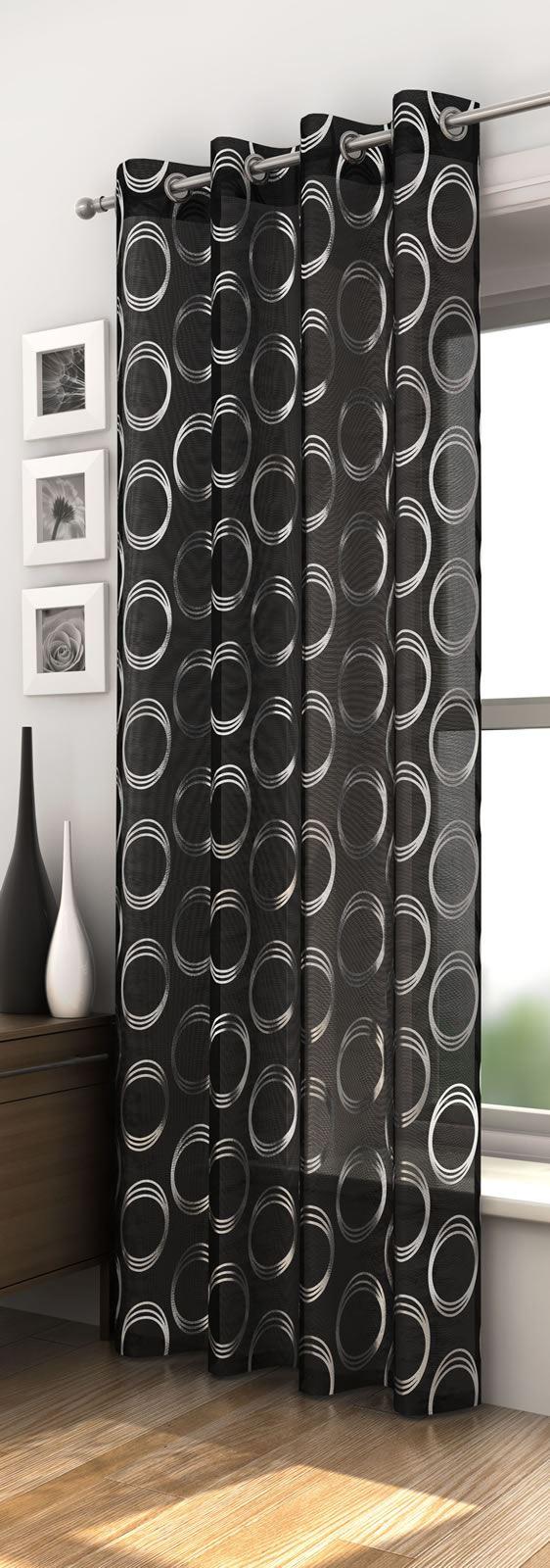 se vorh nge fl chenvorhang retro silber schwarz rot. Black Bedroom Furniture Sets. Home Design Ideas