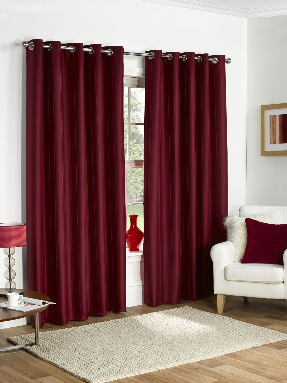 Thermal curtains grey - Thermal Ring Top Fully Lined Blackout Ready Made