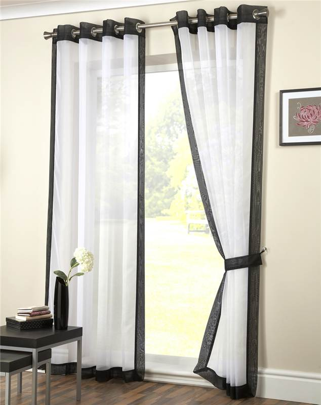 eyelet voile curtain panel ringtop curtain latest. Black Bedroom Furniture Sets. Home Design Ideas