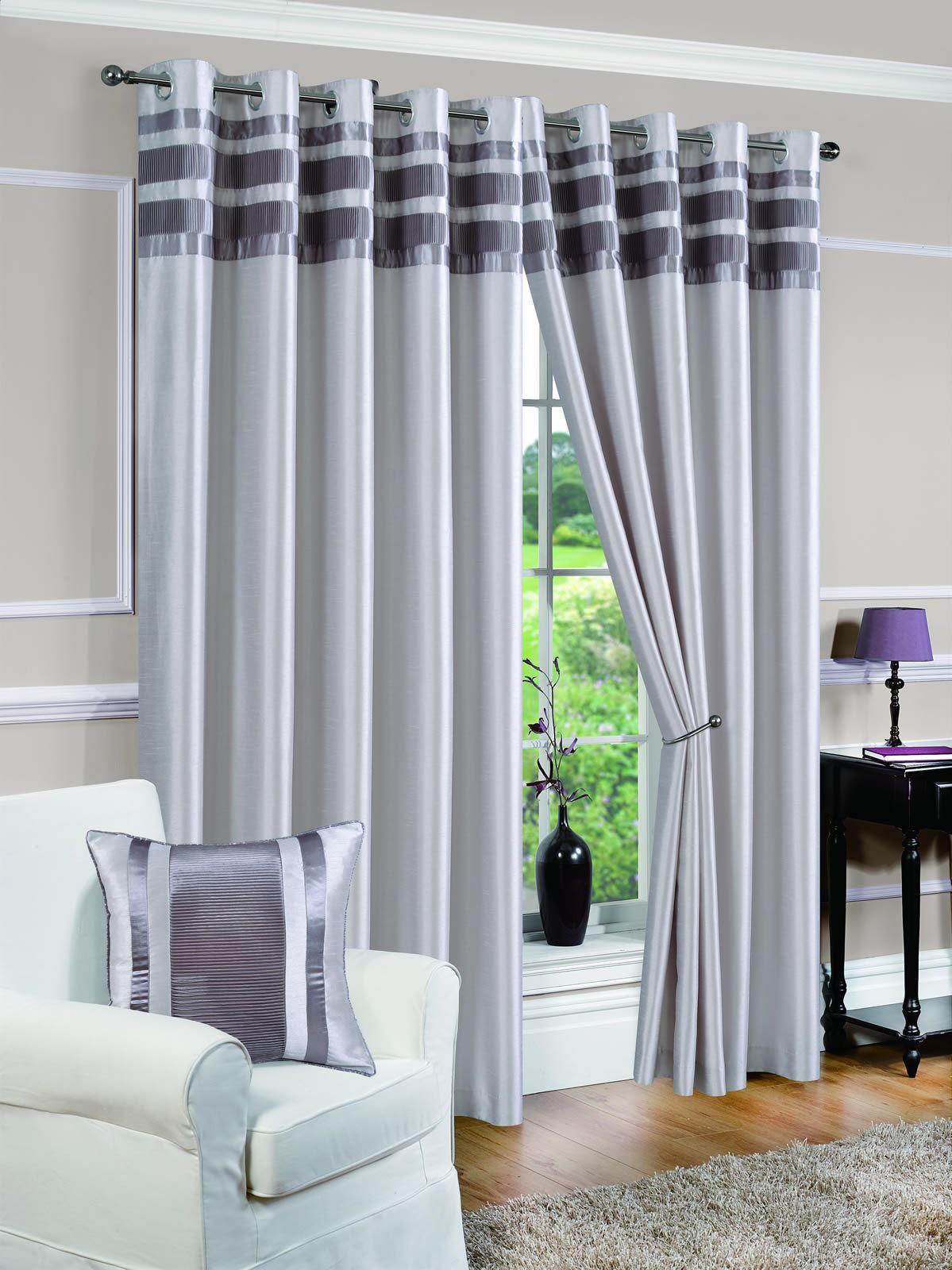 vorh nge gardinen ges umt vorhangpaare denver pin tuck silber ebay. Black Bedroom Furniture Sets. Home Design Ideas
