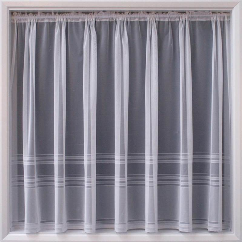 Modern white sheer net curtain luxury lace curtains nets for Window net design