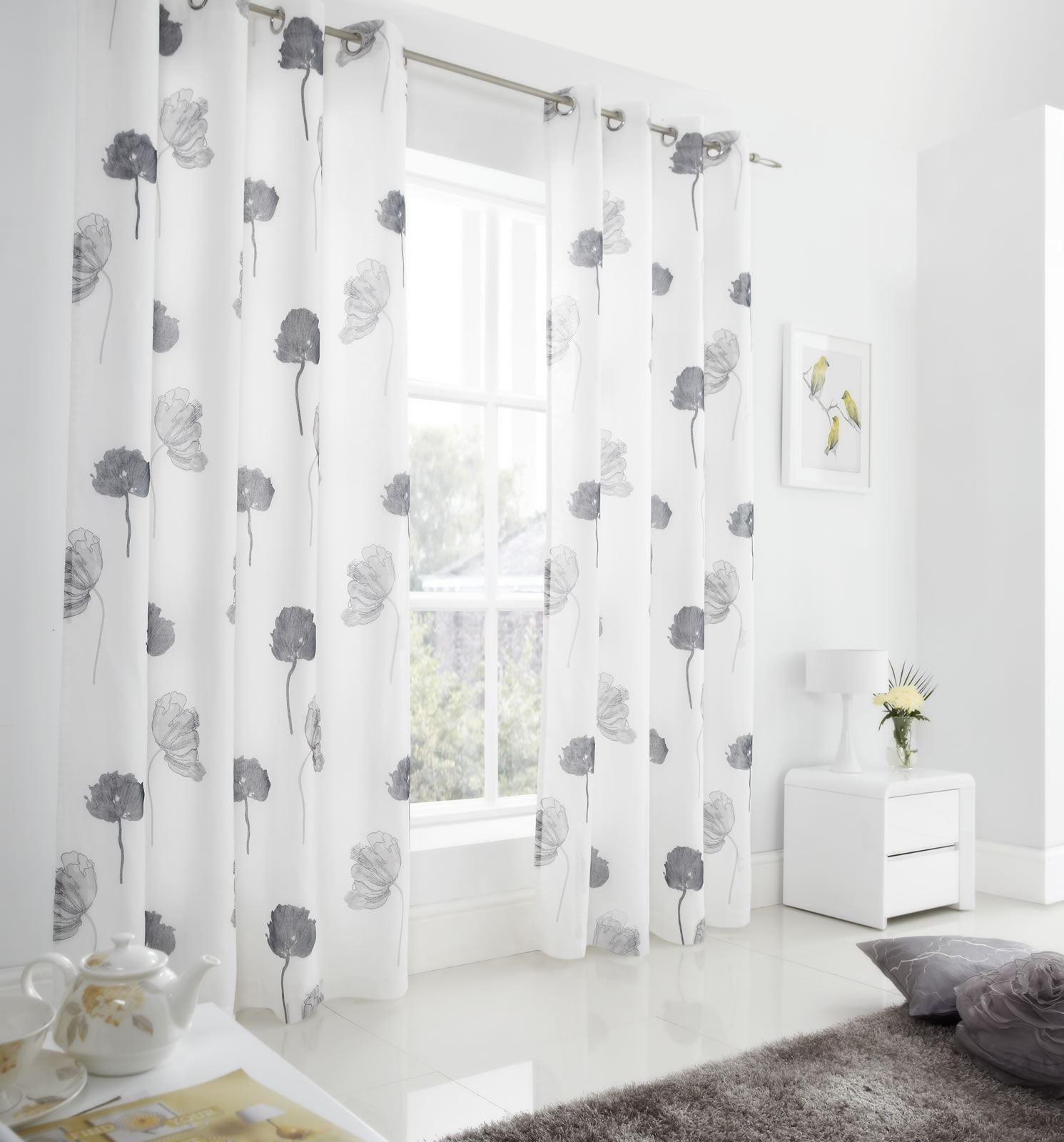 se vorh nge gef ttert voile vorhang panels als paar. Black Bedroom Furniture Sets. Home Design Ideas
