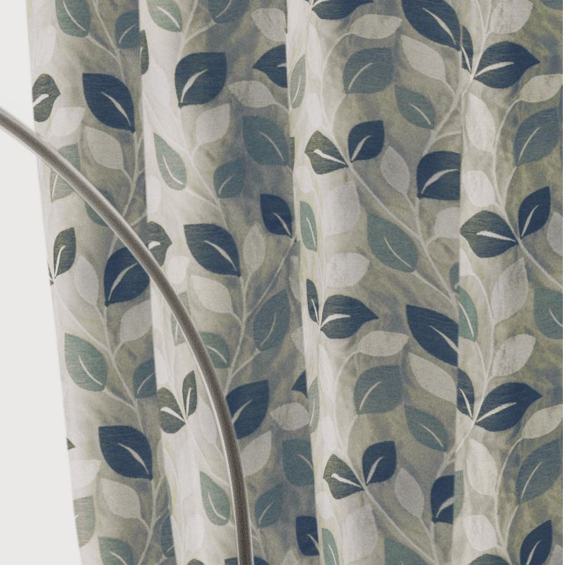 Cream patterned curtains