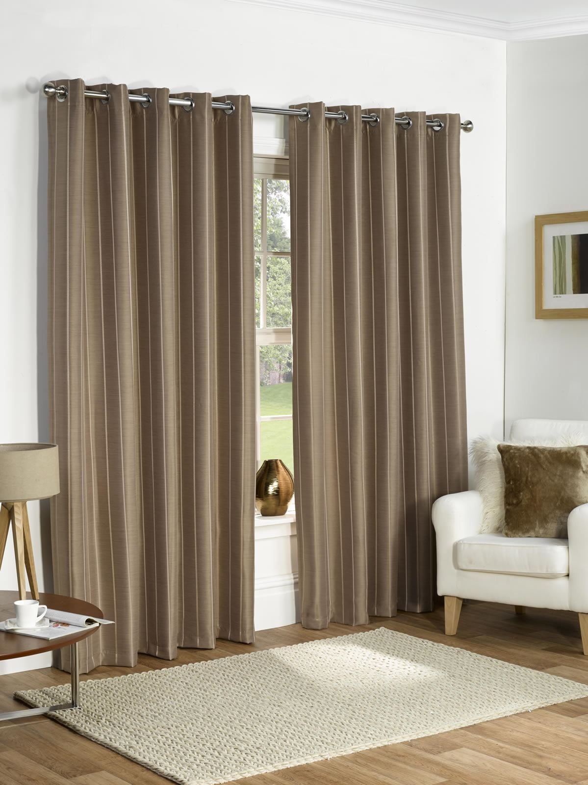Thermal curtains grey - Thermal Ring Top Fully Lined Blackout Ready Made Curtains Eyelet Pair Grey Taupe