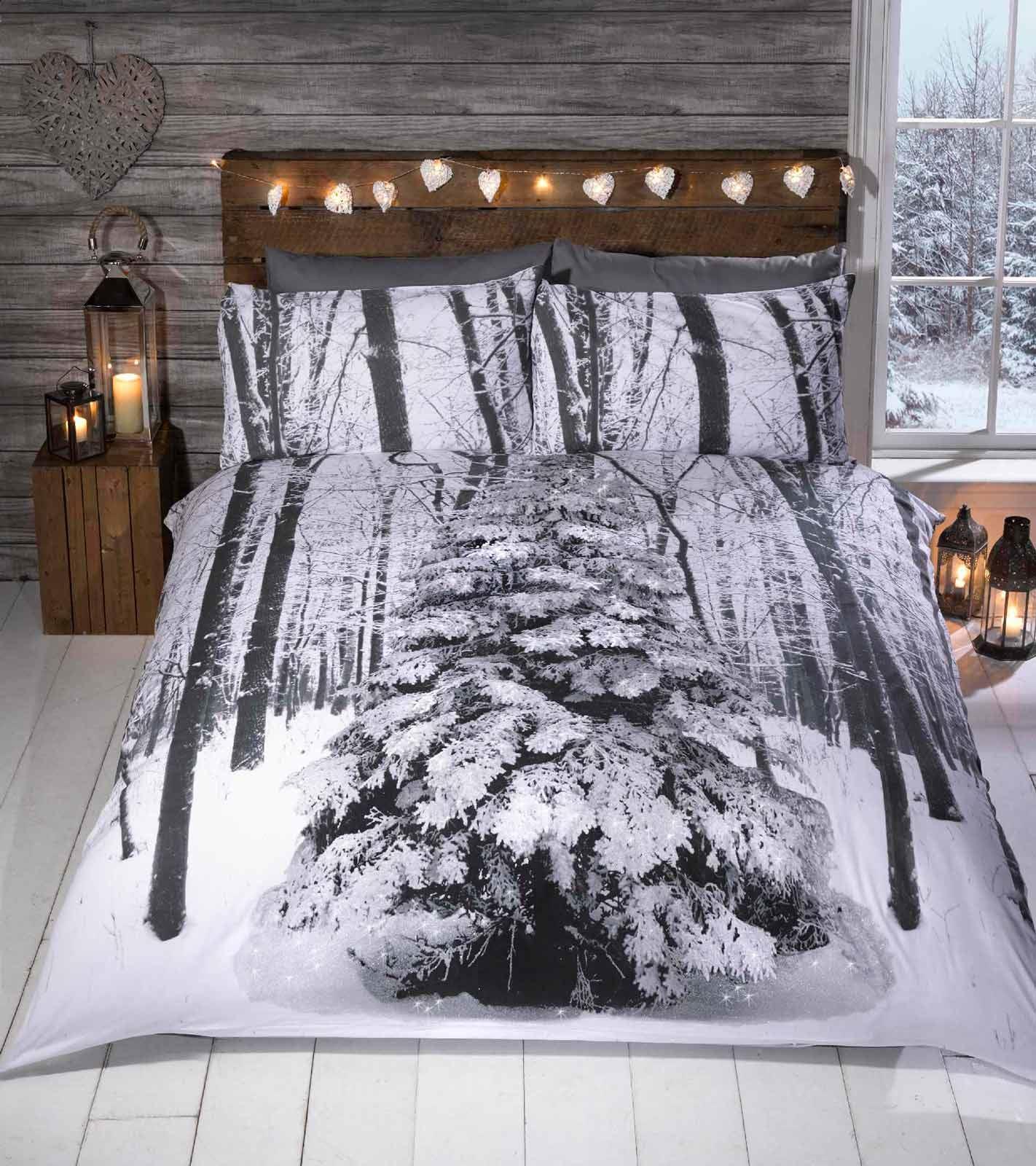 Winter Animal Woodland Duvet Covers Quilt Sets Penguin