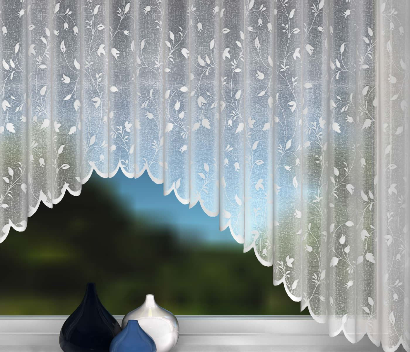 Net curtain jardiniere white net lace curtains leaf for Window net curtain