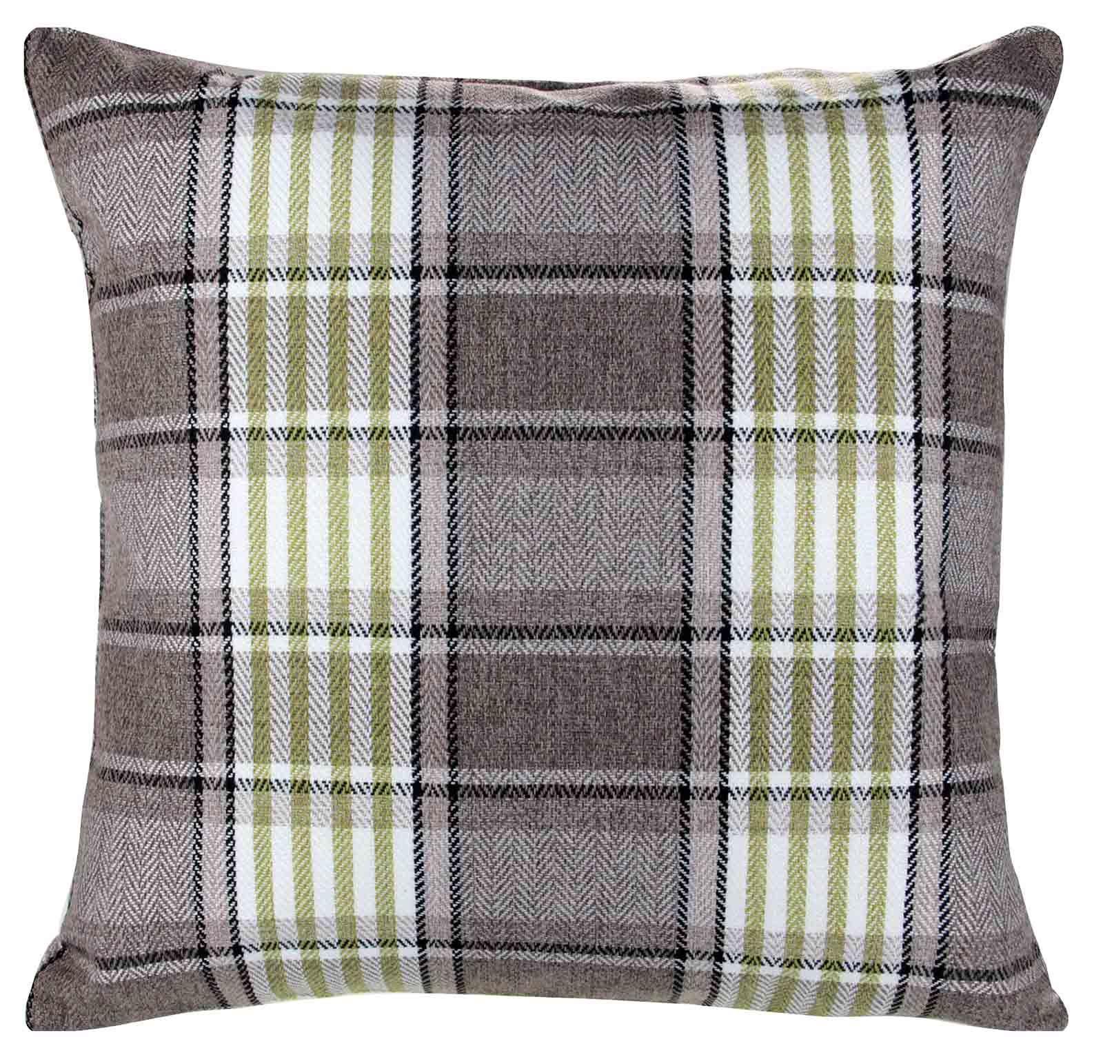 Plaid Decorative Throw Pillows : CARLYLE TARTAN PLAID CHECK CUSHION COVER 18