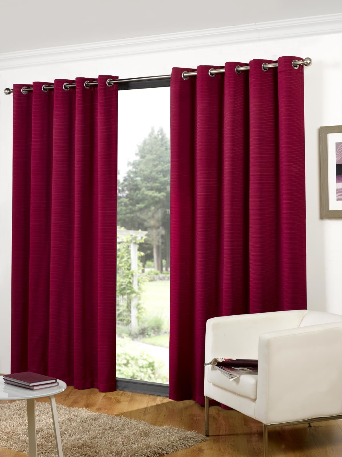 clearance bohemia ribbed lined eyelet curtains ready. Black Bedroom Furniture Sets. Home Design Ideas