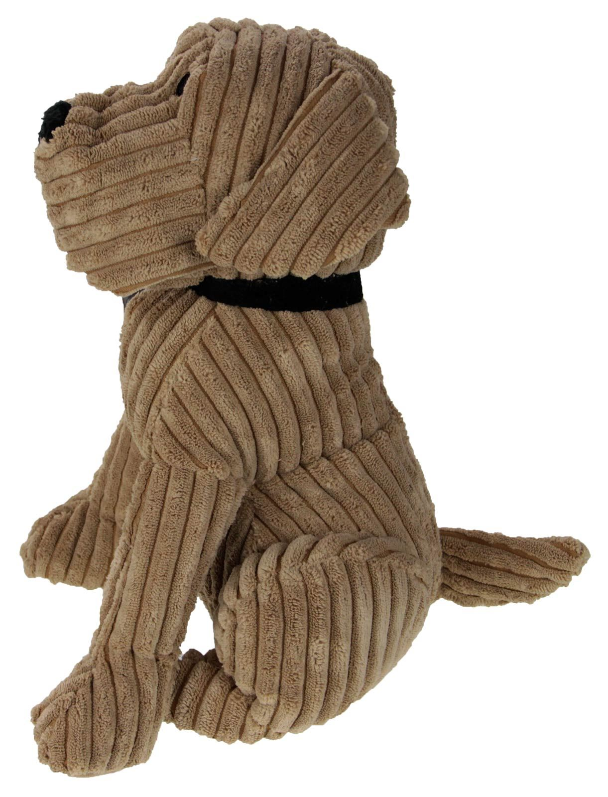 Puppy Doggy Fabric Door Stop Luxury Heavy Duty Stopper Tan