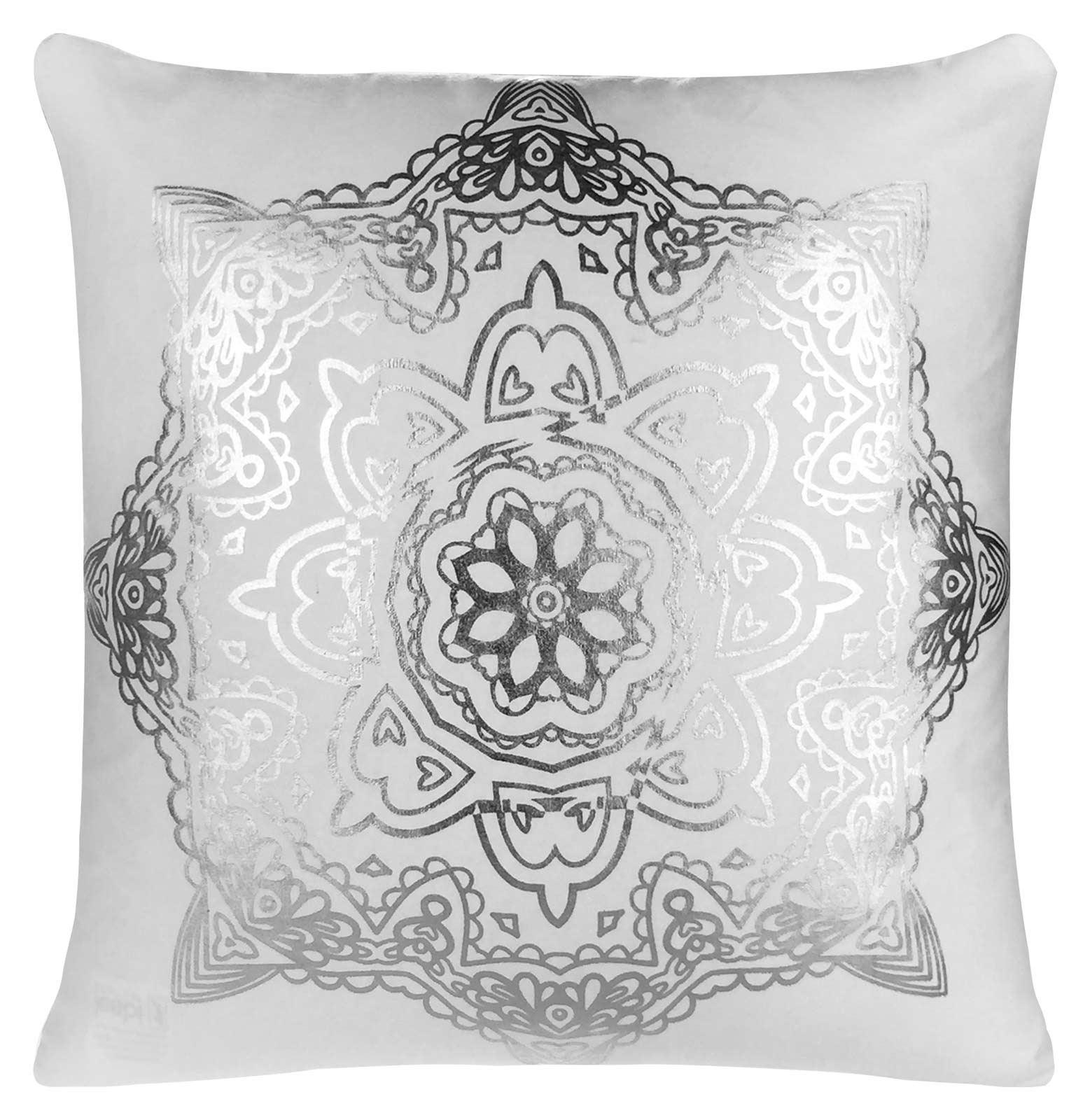 housses de coussin m tallique 45cmx45cm coton blanc argent or noir cuivre ebay. Black Bedroom Furniture Sets. Home Design Ideas