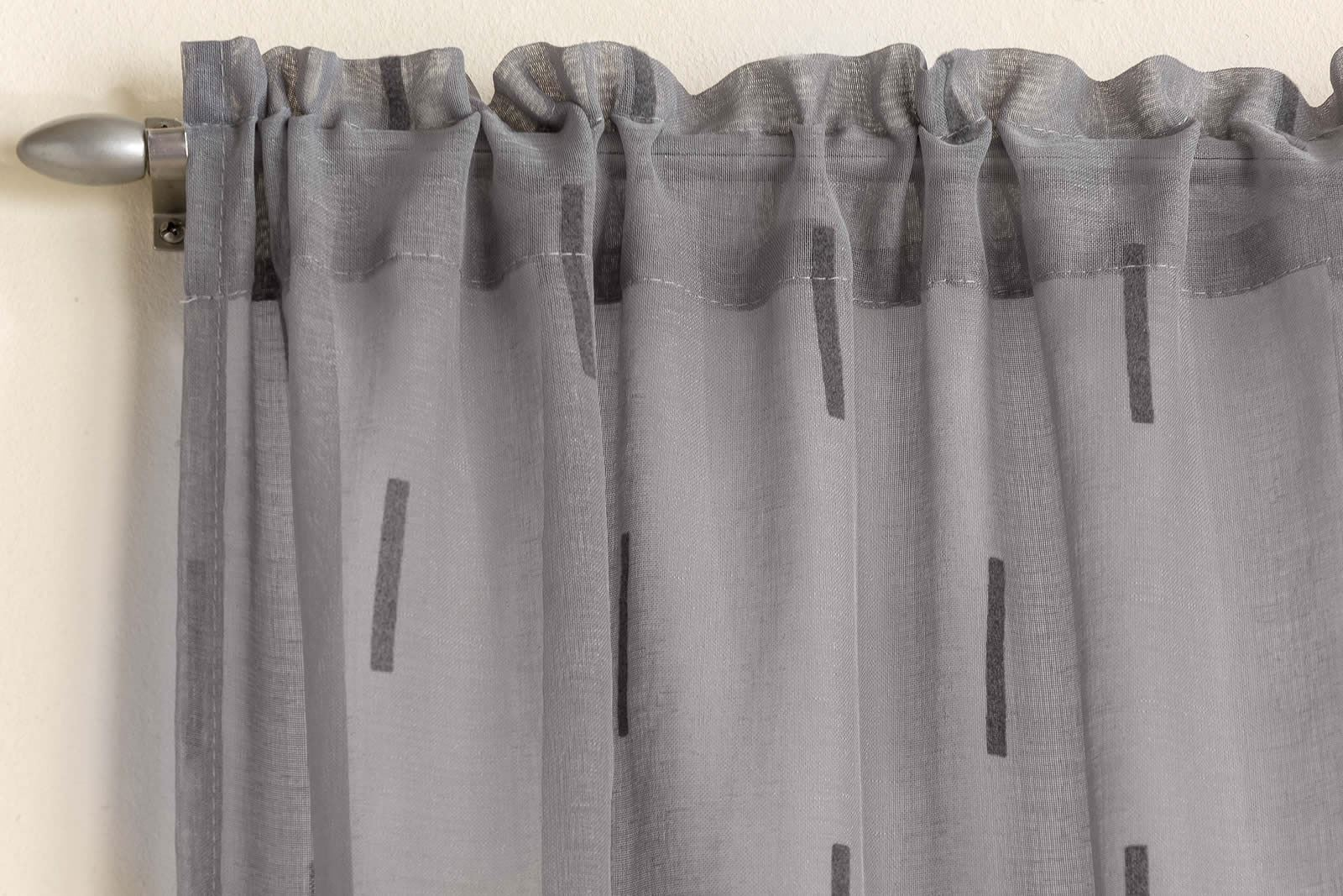 Modern Denver Voile Net Curtain Slot Top Panel Muslin
