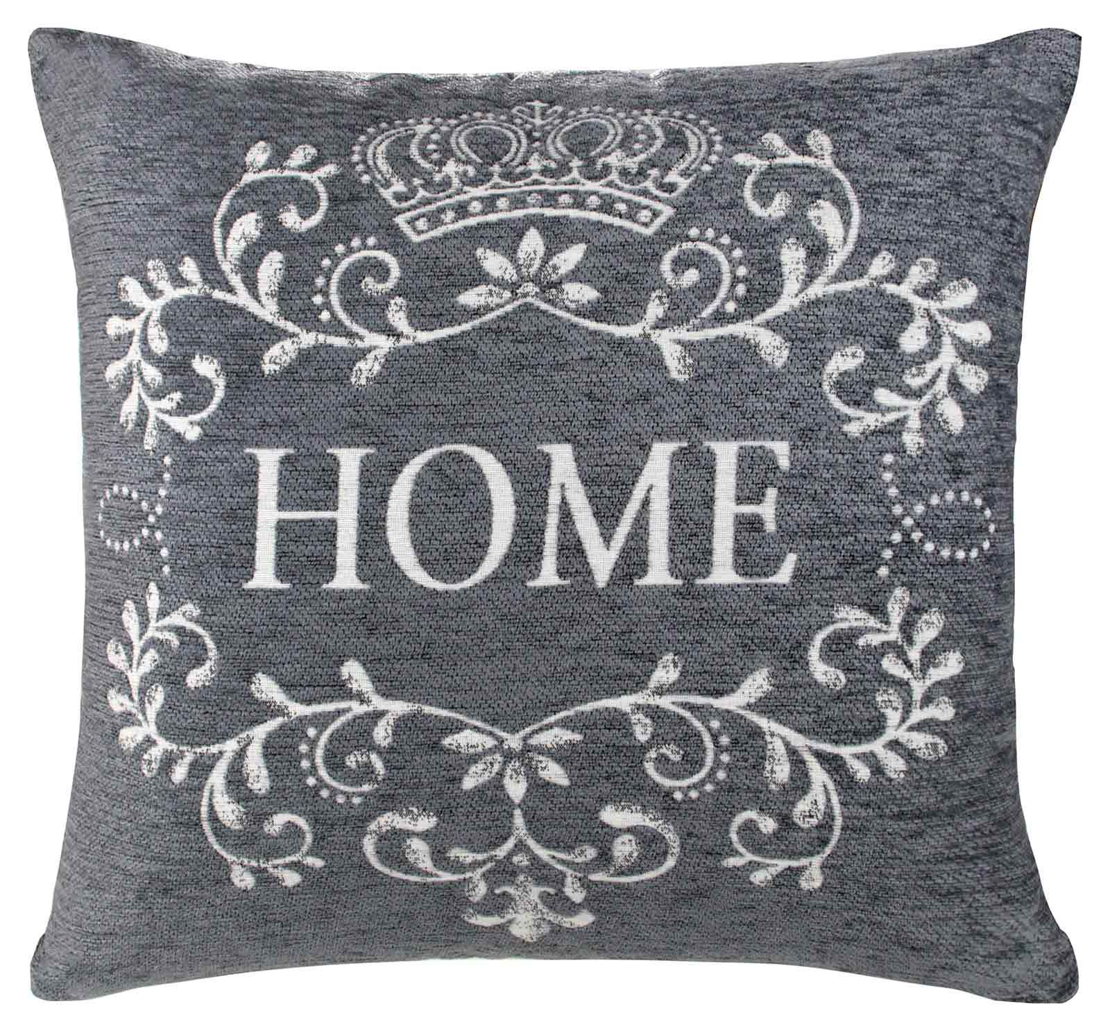 housse de coussin coussins accueil vintage 45cm x 45cm gris noir cr me rouge ebay. Black Bedroom Furniture Sets. Home Design Ideas
