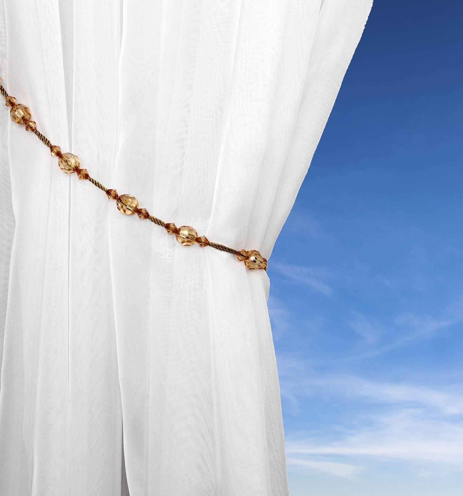 Tiebacks Beaded Rope Beaded Tassel Curtain Tie Back