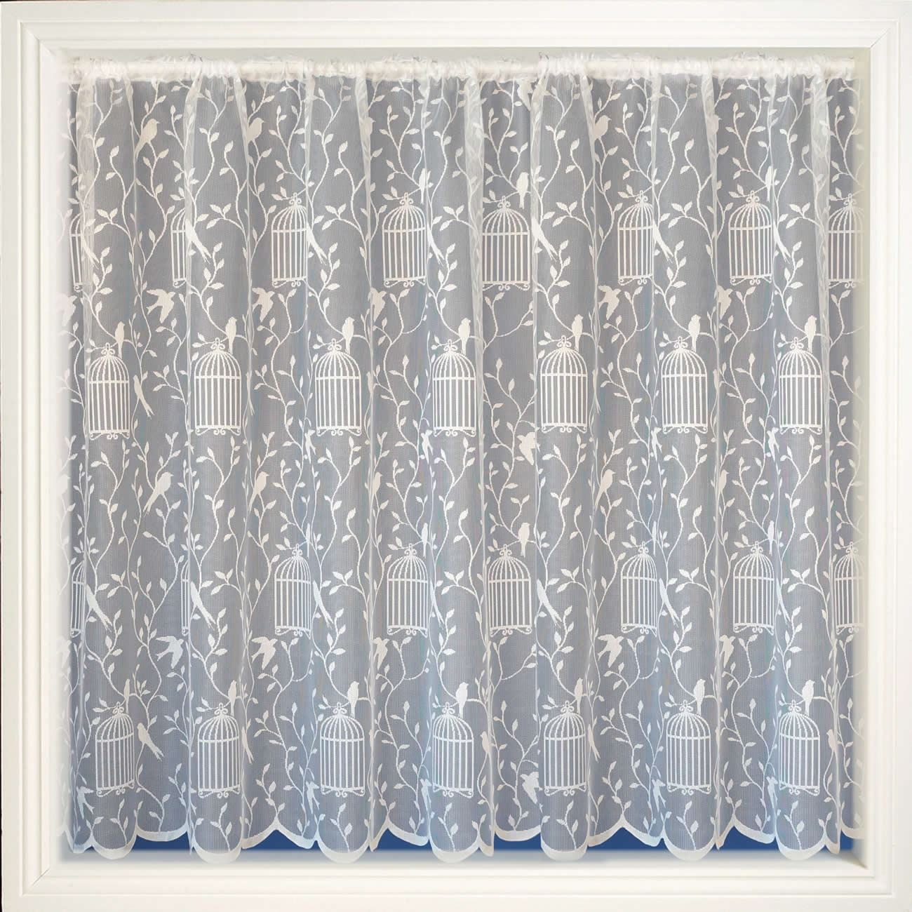 MODERN WHITE SHEERS NET CURTAIN LUXURY LACE CURTAINS NETS ...
