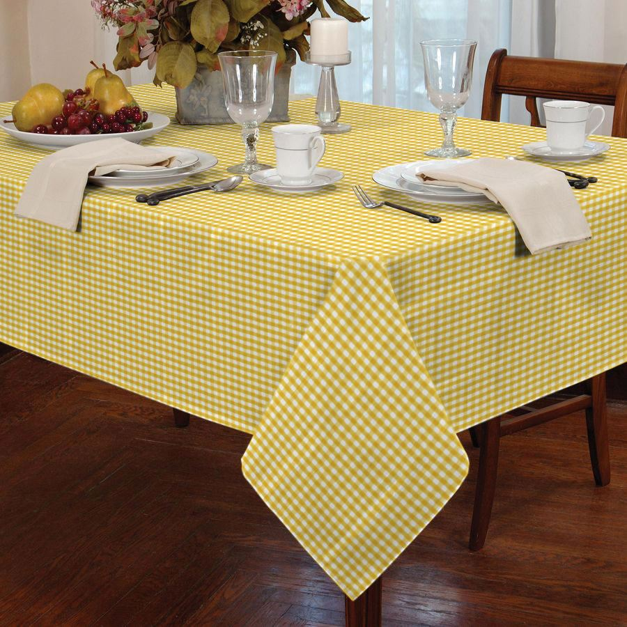 Ordinaire COUNTRY STYLE GINGHAM CHECK TABLE CLOTH SQUARE ROUND