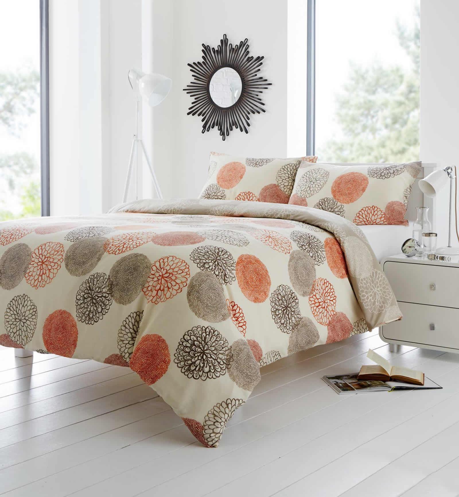 Pomelo Double Duvet Cover Set, Orange - BrandAlley  Orange Duvet Cover
