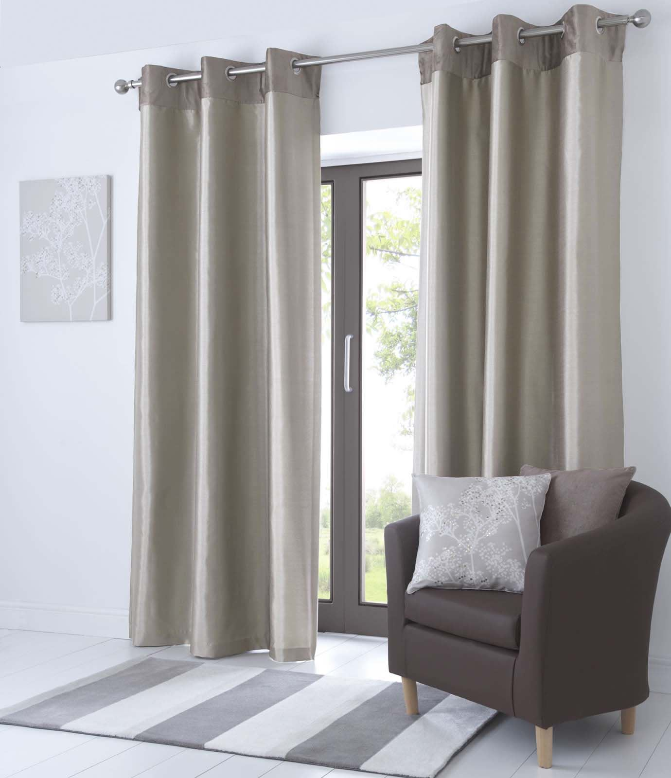 fully lined eyelet curtains faux leather ready made. Black Bedroom Furniture Sets. Home Design Ideas