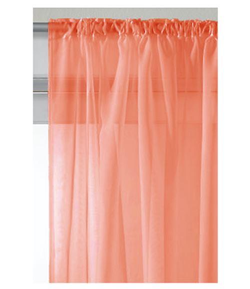 slot top sheer voile rod pocket window door curtain panel drapes. Black Bedroom Furniture Sets. Home Design Ideas