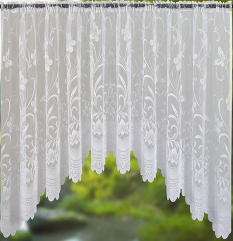 net curtain jardiniere ready made white lace curtains all sizes ebay