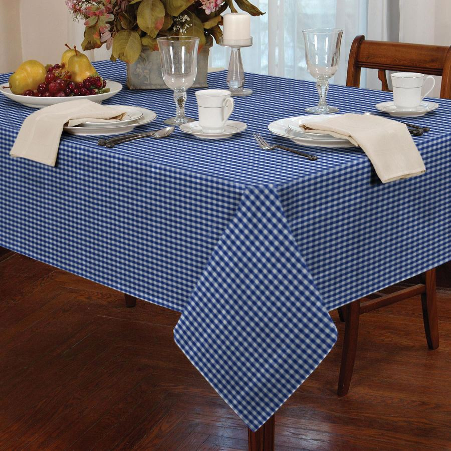 Merveilleux COUNTRY STYLE GINGHAM CHECK TABLE CLOTH SQUARE ROUND