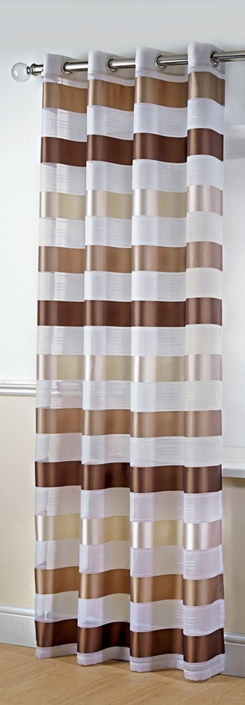 senvorhang voile vorh nge gestreifte ring top vorh nge. Black Bedroom Furniture Sets. Home Design Ideas